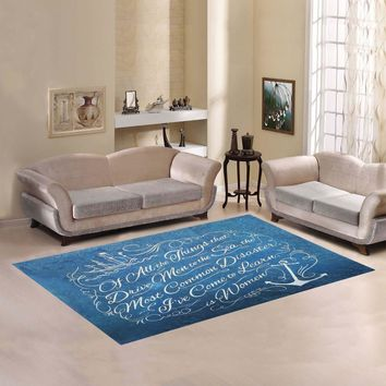 Nautical Anchor Area Rug 7'x5'