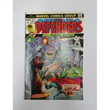 The Defenders # 11, Marvel Comics Dec 1973 Black Knight, Hulk, Silver Surfer, Buscema, Hi-Gloss Cover, Original Owner