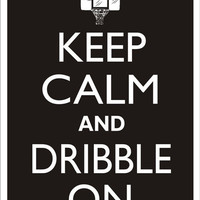 KEEP CALM and DRIBBLE On Basketball Tin Aluminum Parking sign home decor wall hanging
