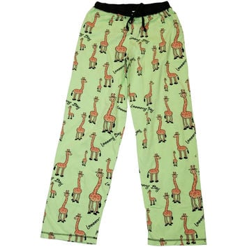 Giraffe Long Day Women's Pajama Pants