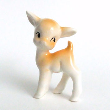 Little Deer Figurine, Vintage Fawn Figure
