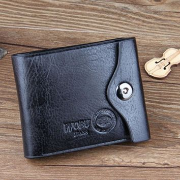 carteras mujer Fashion Mens Wallet Leather Bifold ID Cards Holder Coin Pocket Bag Wallets Slim Purse sacoche homme #25