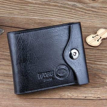 carteras mujer Fashion Mens Wallet Leather Bifold ID Cards Holder Coin Pocket Bag 2016 Wallets Slim Purse sacoche homme #25
