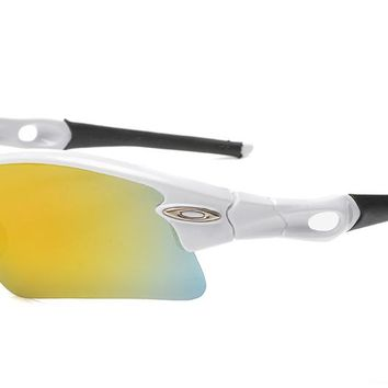 One-nice™ OAKLEY SUNGLASSES... FLAK 2.0 XL...polished white with PRIZM OUTFIELD LENS