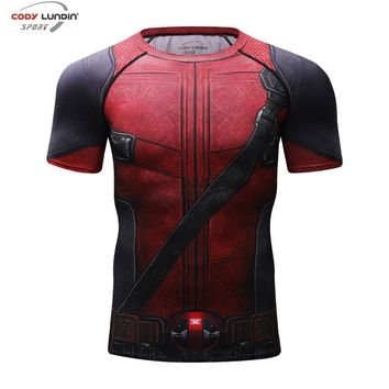 Deadpool Dead pool Taco 3D Printed T shirts Men Fun  2 Compression Shirt  Cosplay Costume Clothes 2018 Black Friday Summer Tops For Male AT_70_6