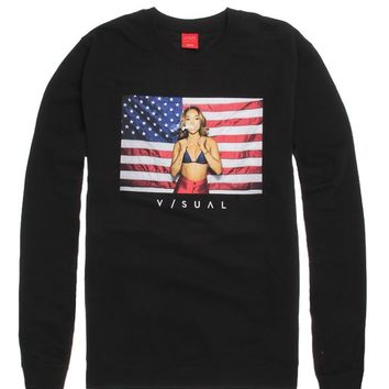 Visual by Van Styles Independence Crew Fleece - Mens Hoodie - Black