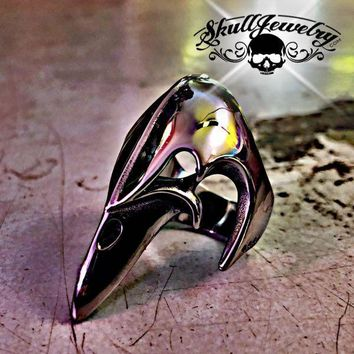'The Plague Doctor' Stainless Steel Ring (273)