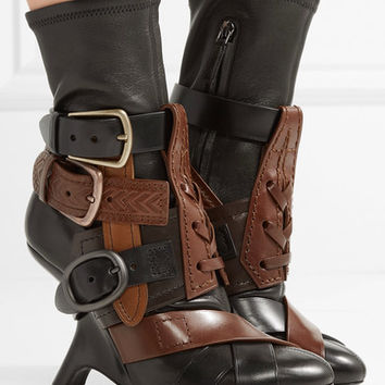 TOM FORD - Buckled stretch-leather ankle boots