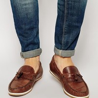 ASOS Tassel Loafers in Leather - Tan