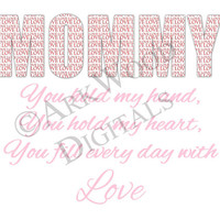 Mommy Printable Mothers Day Digital Download