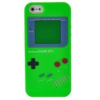 EarlyBirdSavings Green Game Boy Style Silicone Case Cover Skin For iPhone 5 5G 5th