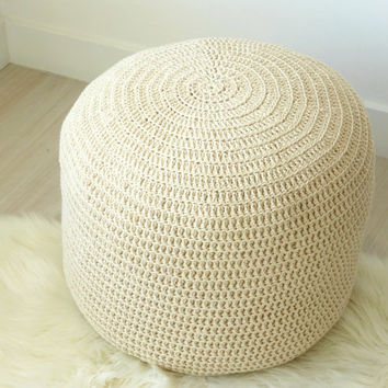 Ottoman pouf , pouf , moroccan pouf , ottoman , ottoman crochet , pouf crochet ottoman , floor cushion , floor pillow , cotton pouf , cotton