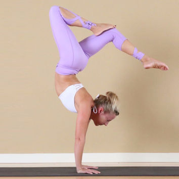 Yoga pants Ballet Spirit Bandage Workout infinity Turnout Leggings For Women Lavender For Dance