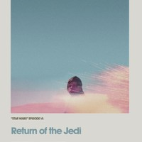 Retro Cinema Poster: Return of the Jedi Art Print by Craft And Graft | Society6
