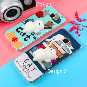 Squishy Cat Phone Case For Samsung