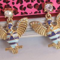 New Arrival! EElegant Brand Fashion Crystal Lucky Eagle Drop Earrings