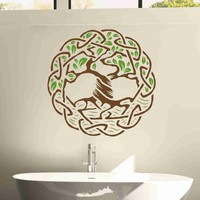 Tree Celtic Weave Wall Decal