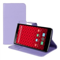kwmobile® Elegant leather case for the OnePlus One with magnetic fastener and stand function in Purple
