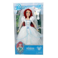 disney parks little mermaid ariel wedding with jeweled brush doll new with box