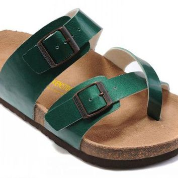 Birkenstock Mayari Sandals Artificial Leather Green - Ready Stock