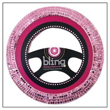 SEQUIN BLING PINK CAR STEERING WHEEL COVER UNIVERSAL FIT VEHICLE ACCESSORY: Amazon.co.uk: Car & Motorbike