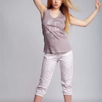 Sensis Europe Everyday Cotton Pajamas Set Dots -all you need is love