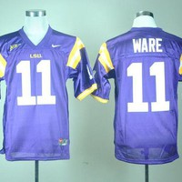DCCKD9A Nike LSU Tigers Spencer Ware 11 White College Jersey Ice Hockey Jerseys M,L,XL,XXL,3XL