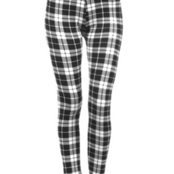 Plaid Fleece Leggings
