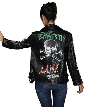 Hip hop graffiti Skull motorcycle PU leather jacket men/Women Slim baseball Coat Outerwear Cuir Femme Veste cazadora cuero mujer