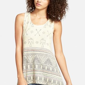 Junior Women's Blu Pepper Print Knit Tank,
