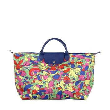 "LONGCHAMP x JEREMY SCOTT ""Humpty Dumpty"" pliage travel bag"