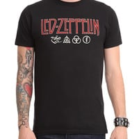 Led Zeppelin Red Logo T-Shirt