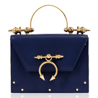 Leather And Brass Miniaudiere Top Handle | Moda Operandi