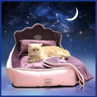 Luxury Princess Pet Bed With Pillow Blanket Dog Bed Cat Bed Mat Sofa Dog House Nest Sleep Cushion Kennel.