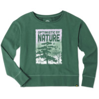 Women's Optimistic By Nature Go-To Crew Sweatshirt