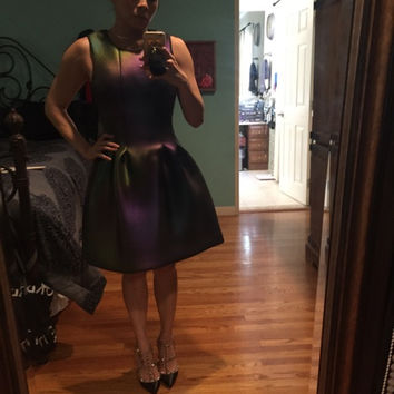 Cynthia Rowley Iridescent Scuba Dress