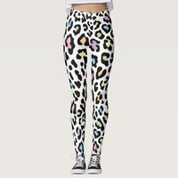 Colorful Leopard Patterns Women's Leggings