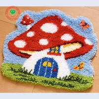 Latch hook rug kits mushroom house