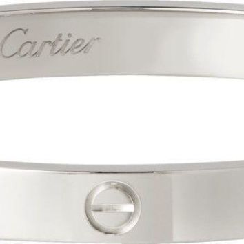 One-nice? Cartier 18k White Gold LOVE Bracelet Classic Size 17 !!!!!!