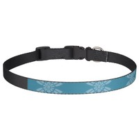 Pretty Floral Teal Pattern Pet Collars