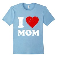 Distressed I Love Mom T-Shirt