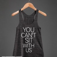 Athletic Tri Black Tank | Cool Mean Girls Shirts