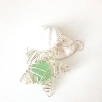 sea foam sea glass star ornament