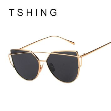 Fashion Children Cat Eye Sunglasses Boys Girls Brand Designer Mirror Cateye Sun Glasses Retro Kids Sunglasses UV400