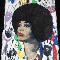 Angela Davis T-shirt for Human Rights Painted 3d ART TO WEAR