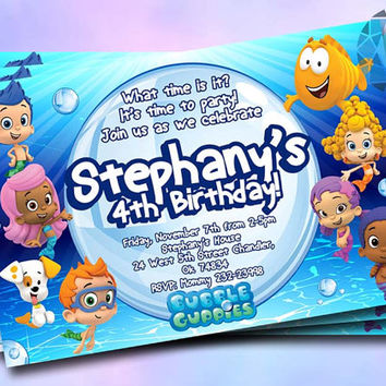 Bubble Guppies invitation Design For Birthday Invitation