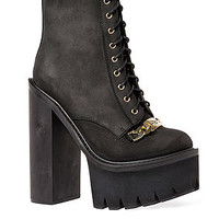 The HBIC ID Chain Boot in Black and Gold (Exclusive)