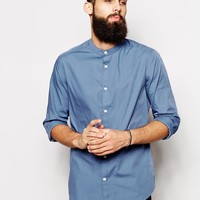 ASOS Smart Shirt In Long Sleeve With Grandad