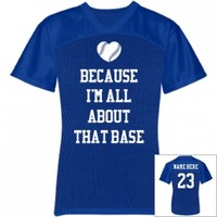 Trendy and Customizable Baseball Girlfriend Mesh Jersey from Customized Girl