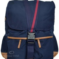 "Tommy Hilfiger Backpack 15"" Laptop Palm Springs Navy Blue Brown Book Men Boy Bag"